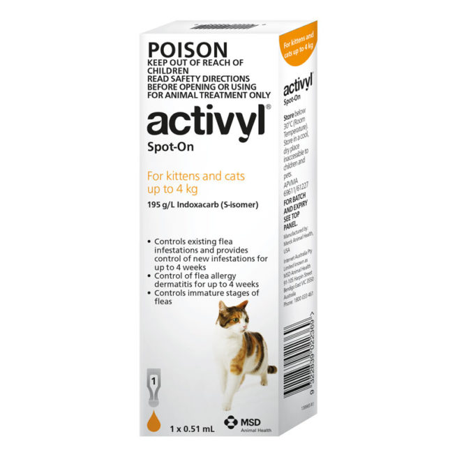 Activyl Orange Spot-On for Kittens & Small Cats - Single 1