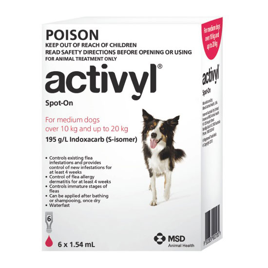 Activyl Red Spot-On for Medium Dogs - 6 Pack 1