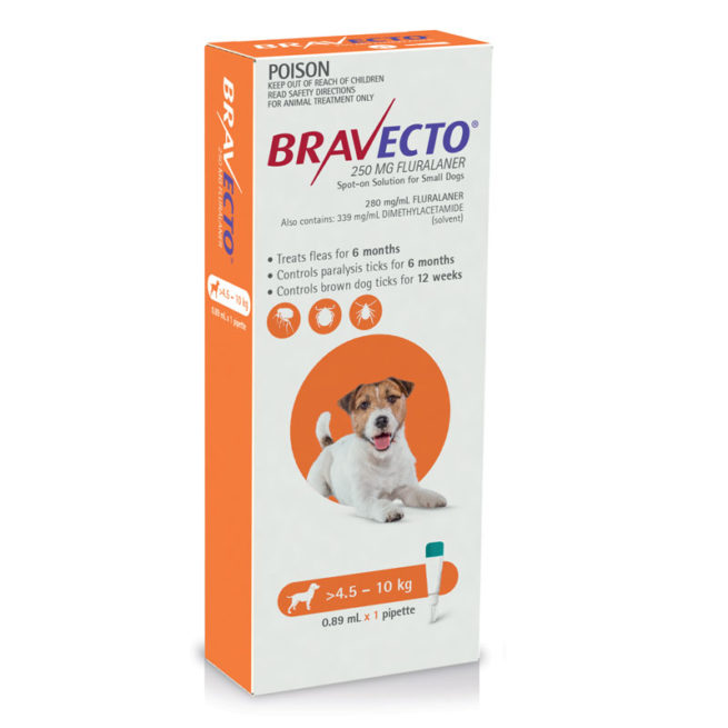 Bravecto Orange Spot-On for Small Dogs - Single 1