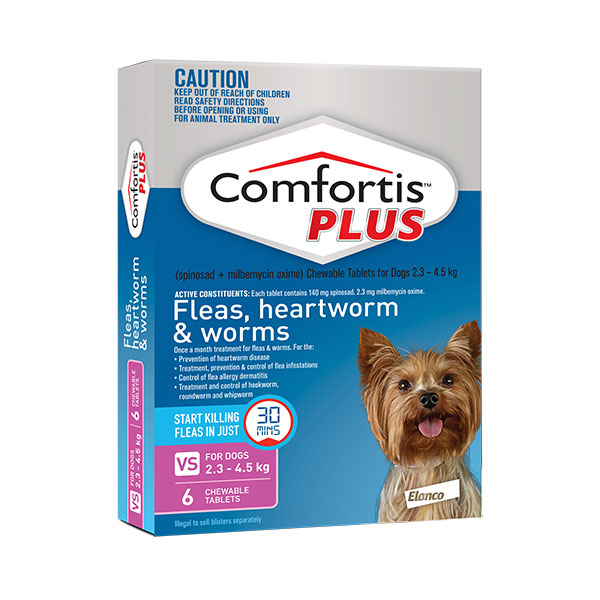 Comfortis Plus Pink Chews for Very Small Dogs - 6 Pack 1