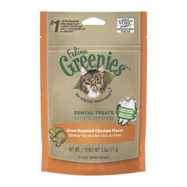 Feline Greenies Dental Treats Oven Roasted Chicken Flavour 71g 1