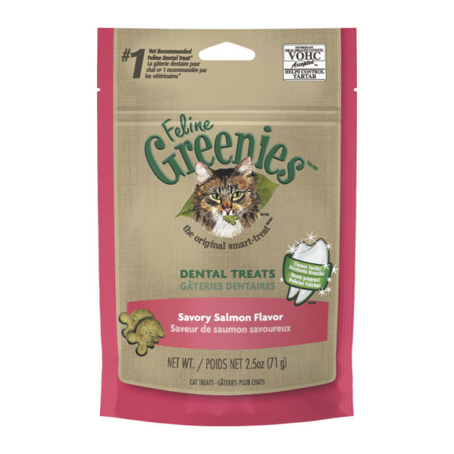 Feline Greenies Dental Treats Savoury Salmon Flavour 71g 1
