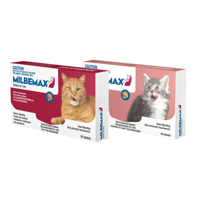 Milbemax Allwormer Tablets for Cats (2-8kg) - 2 Pack 1