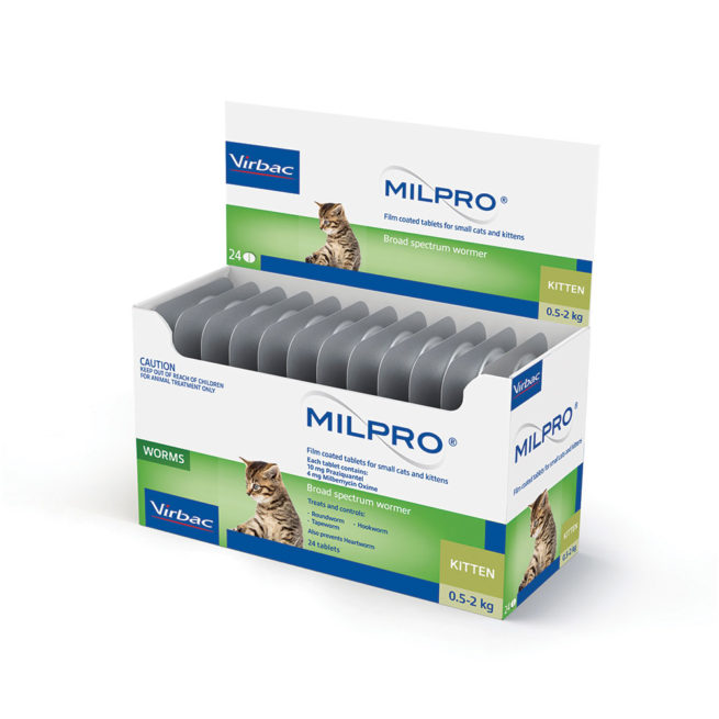 MILPRO Allwormer Tablets for Small Cats and Kittens - 24 Tablets 1