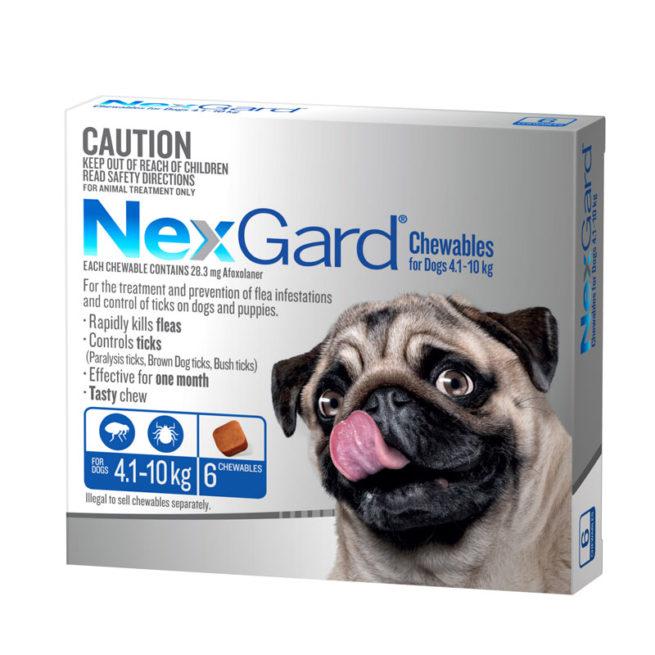 NexGard Blue Chews for Medium Dogs (4.1-10kg) - 6 Pack 1