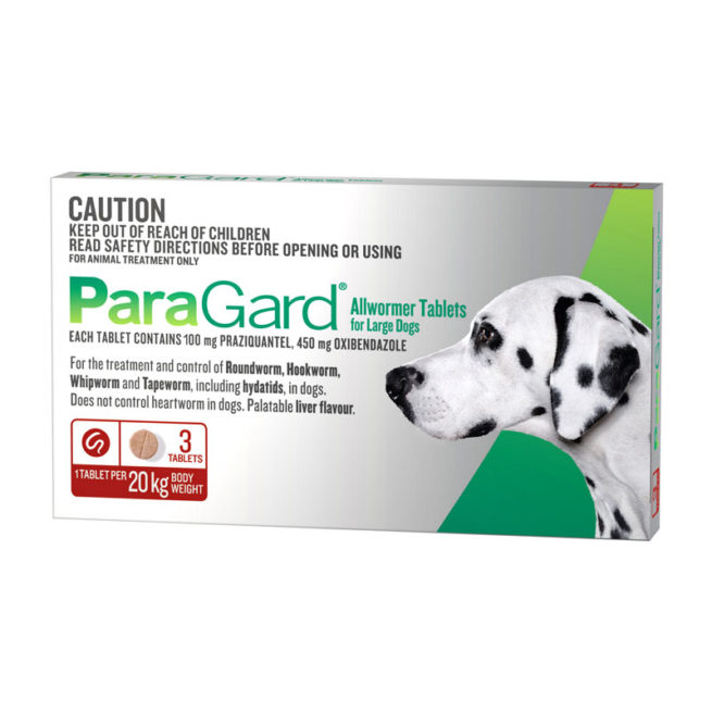 ParaGard Allwormer Tablets for Large Dogs - 3 Pack 1